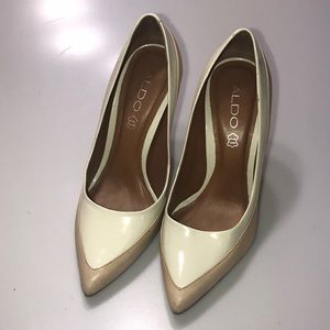 Aldo Two Tone Pointed Toe Pumps Size 7